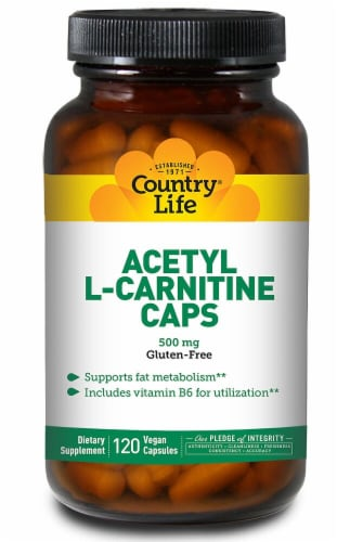 Country Life Acetyl L-Carnitine Capsules Perspective: front