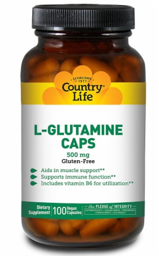 Country Life L-Glutamine Capsules Perspective: front
