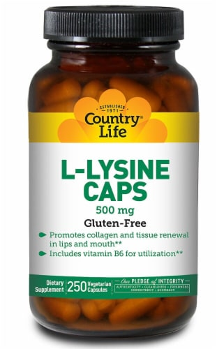 Country Life L-Lysine Capsules Perspective: front