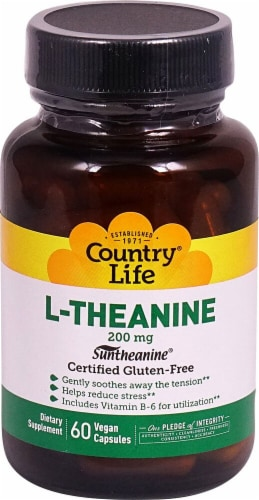 Country Life  L-Theanine Perspective: front