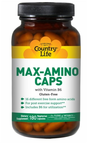 Country Life Max Amino With B6 Caps Perspective: front