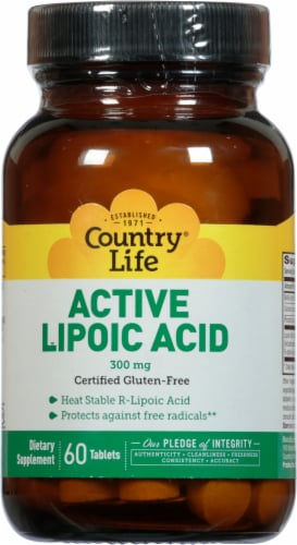 Country Life Time Release Lipoic Acid Perspective: front