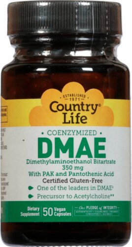 Country Life DMAE 350 mg Vegetarian Capsules Perspective: front