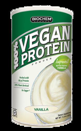 BioChem Vanilla Vegan Protein Perspective: front