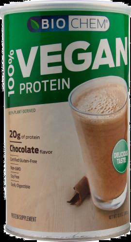 BioChem Chocolate Vegan Protein Perspective: front