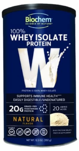 BioChem Whey Isolate Natural Protein Perspective: front