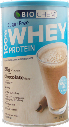 BioChem Sugar Free Chocolate Whey Protein Perspective: front