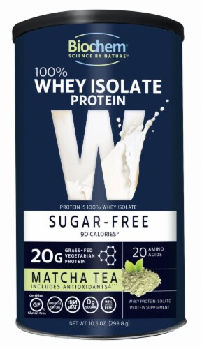 BioChem 100% Whey Isolate Protein Matcha Tea Perspective: front