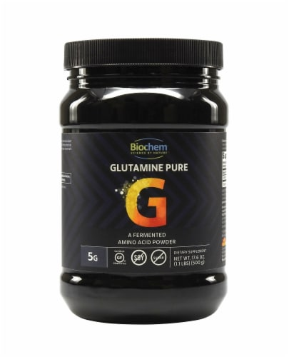 BioChem Glutamine Pure Powder Perspective: front