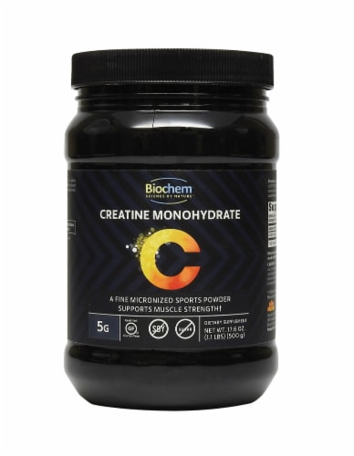 BioChem Creatine Monohydrate Powder Perspective: front