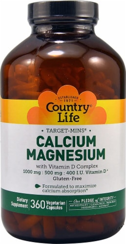 Country Life  Calcium-Magnesium with Vitamin D Complex Perspective: front