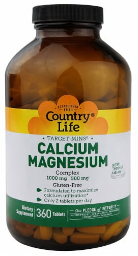 Country Life  Target-Mins™ Calcium-Magnesium Complex Perspective: front