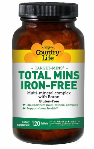 Country Life  Total Mins Iron-Free Multi-Mineral Complex Perspective: front