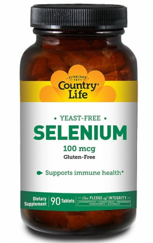 Country Life  Selenium Yeast Free Perspective: front