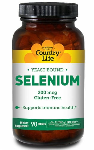 Country Life  Yeast Bound Selenium Perspective: front
