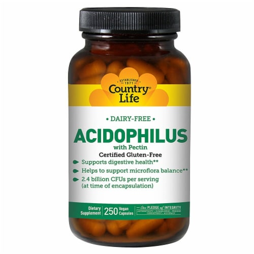 Country Life  Acidophilus with Pectin Perspective: front