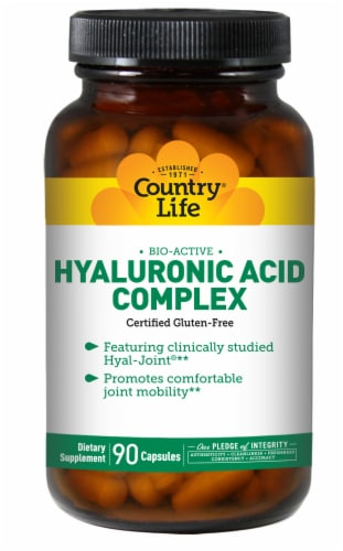 Country Life Bio-Active Hyaluronic Acid Complex Joint Support Capsules Perspective: front