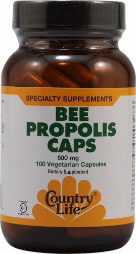Country Life Bee Propolis Capsules 500 mg Perspective: front