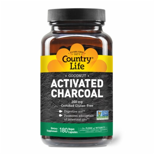 Country Life Activated Charcoal Perspective: front