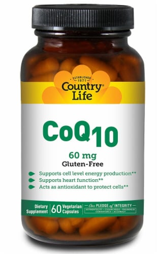 Country Life CoQ10 Capsules 60 mg Perspective: front