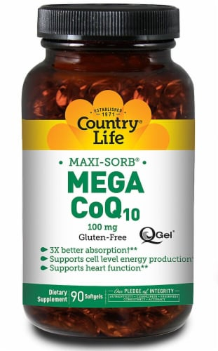 Country Life  CoQ-10 Mega Q-Gel® Perspective: front