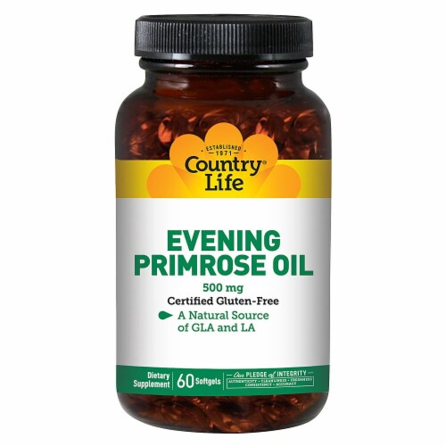 Country Life Evening Primrose Oil Softgels 500 mg Perspective: front