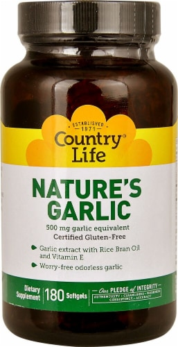 Country Life Nature's Garlic Softgels 500mg Perspective: front