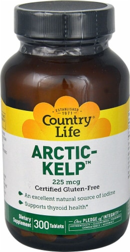 Country Life Arctic Kelp Tablets 225 mcg Perspective: front