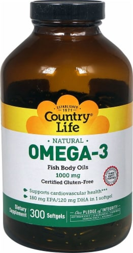 Country Life  Natural Omega-3 Perspective: front