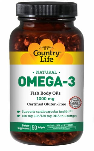 Country Life Omega 3 100 Perspective: front
