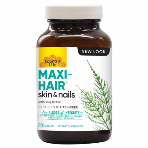 Country Life Time Release Maxi-Hair Maximized Tablets Perspective: front