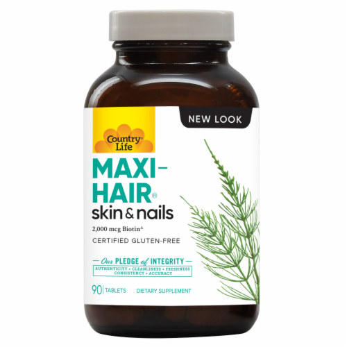 Country Life Maxi-Hair® Skin & Nails Tablets Perspective: front