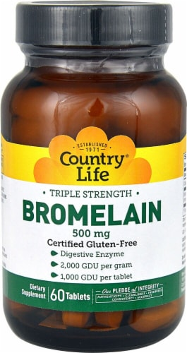 Country Life  Triple Strength Bromelain Perspective: front