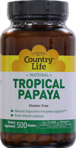 Country Life Tropical Papaya Gluten Free Wafers Perspective: front