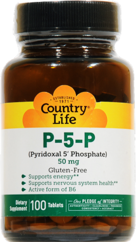 Country Life P-5-P 50 mg Tablets Perspective: front
