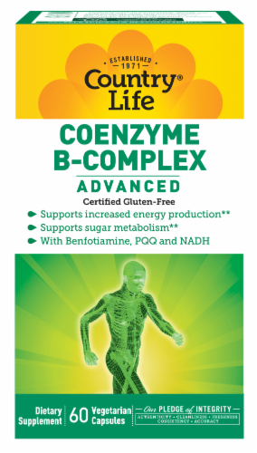 Country Life Advanced Coenzyme B-Complex Vegetarian Capsules Perspective: front
