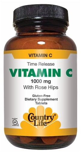 Country Life  Vitamin C with Rose Hips Perspective: front