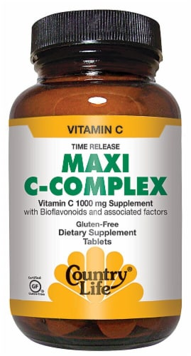 Country Life Maxi C-Complex Time Release Tablets 180 Count Perspective: front