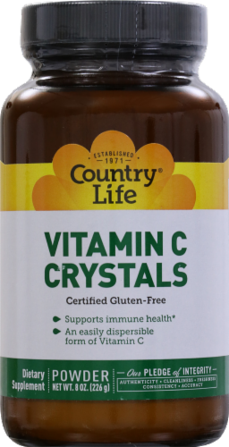 Country Life Vitamin C Crystals Powder Perspective: front