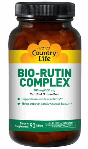 Country Life Bio-Rutin Complex Tablets 500mg 90 Tablets Perspective: front
