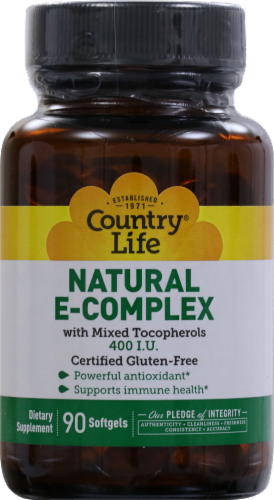 Country Life Natural E Complex Softgels Perspective: front
