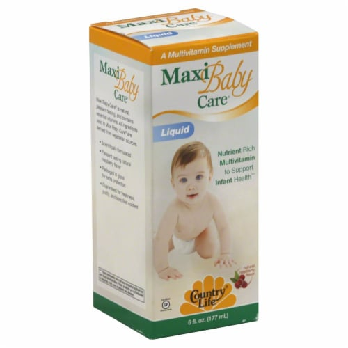 Country Life Maxi Baby Care Liquid Multivitamin Perspective: front