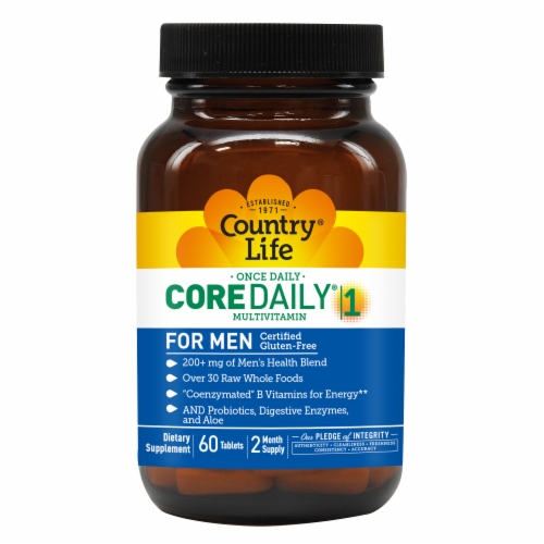 Country Life Core Daily-1 Men's Multivitamin Tablets Perspective: front