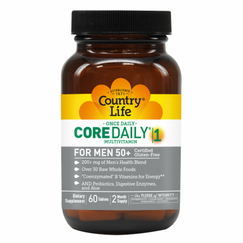 Country Life Core Daily-1 Men 50+ Multivitamin Tablets Perspective: front
