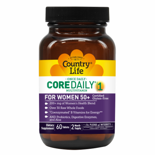 Country Life Core Daily-1 Women 50+ Multivitamin Tablets Perspective: front