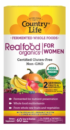 Coountry Life Realfood Organics Women's Daily Nutrition Tablets 60 Count Perspective: front