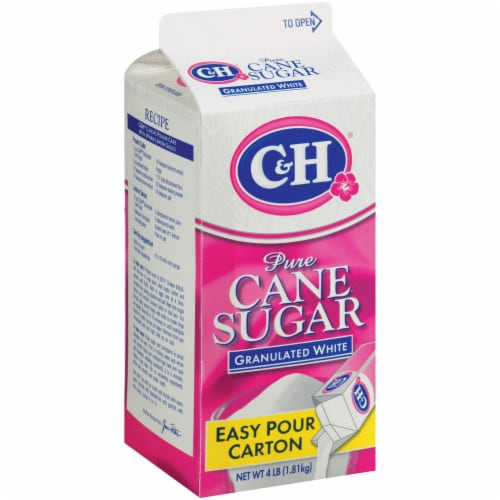C&H Easy Pour Pure Granulated White Cane Sugar Perspective: front