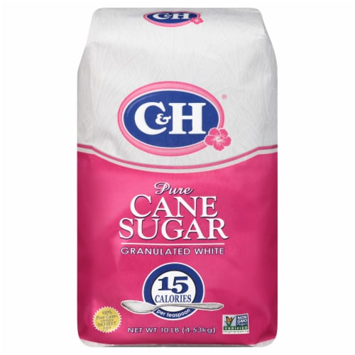 C&H Pure Granulated White Cane Sugar Perspective: front