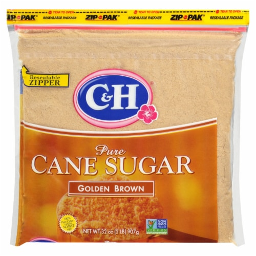 C&H Pure Golden Brown Cane Sugar Perspective: front