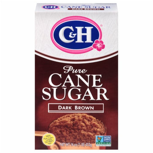 C&H Dark Brown Pure Cane Sugar Perspective: front